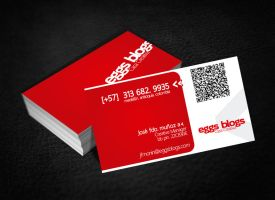 Eggs Blogs Business Cards by moninjose