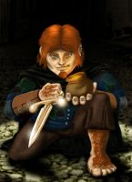 Dave the Killer Halfling by EvilEdison