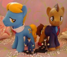 Doctor Who G4 Pony customs and mini customs by SanadaOokmai