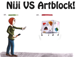 Niji VS Artblock: Fight by ninakuru