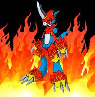 Flamedramon by Saberwulf