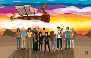 Demigods at the Ready by ShelbsTheGing