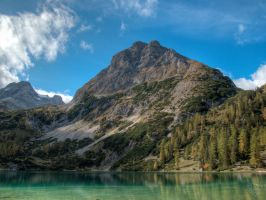 alps mountain view with lake 1 by ThorBet