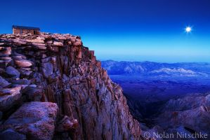 Full Moon Rising Over Mt. Whitney by narmansk8