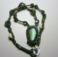 Labradorite necklace by FancyFoxDesign