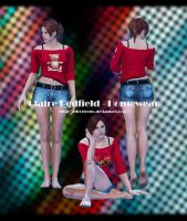 Fan Model - Claire Redfield Homewear by xTh13teeNx