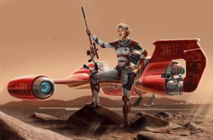 Mars Flyer by JonHrubesch