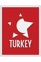 Turkey Flag Poster by PARGOdesign