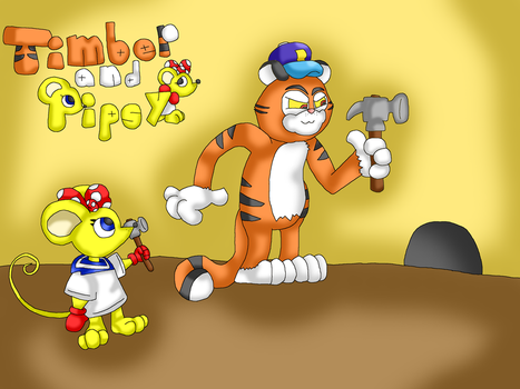 Timber and Pipsy by Cuperthekiller