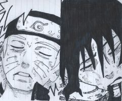 Naruto and Sasuke deaths by Dogz125