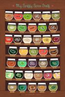 My Spiffy Spice Shelf by Majnouna
