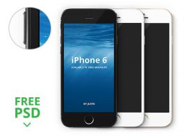 iPhone 6 mockups by freebiespsd