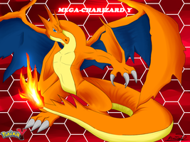 Mega Charizard Y by RinaTiger-Art