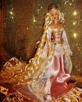 Sleeping Beauty Barbie doll ooak by dakotassong