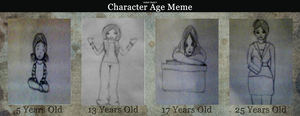 Character Age Meme by CranberryDee