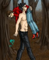 SxD Shoulder Carry. by HenshuFangirl