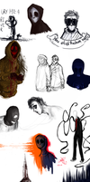 creepypasta n Marble Hornets sketches by Dogrom