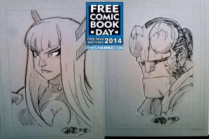 FCBD 2014 Sketches  25 - 26 by theCHAMBA