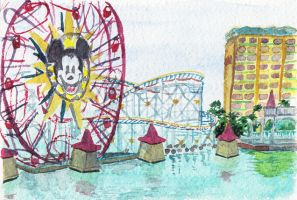 DCA - Paradise Pier by LynxGriffin