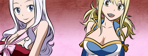 Mirajane and Lucy Coloread by codegeman