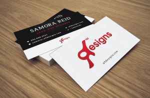 A9 Designs Business Card by Samosuki