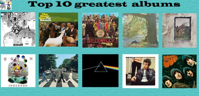 Top 10 Greatest Albums of All Time by TheDivertRealm