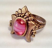 Egyptian Ring with Pink Stone by SteamDesigns