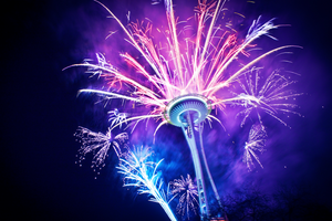 The Space Needle by Burrrian