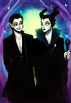Diaval and Maleficent by SavvySleeves