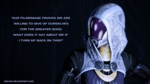 Tali'Zorah Wallpaper I by Bianso