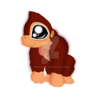 Donkey kong huggable by IzwizzART