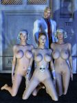 Dr. Twisted and his robogirls by Doctor-Robo