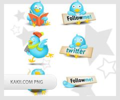 Free PNG twitter icons by kakiii