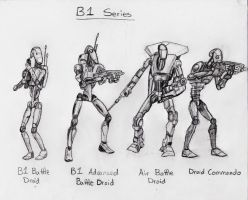 B1 Battle Droids by CyberneticDragon