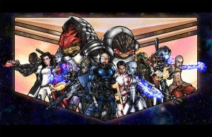 Wayne Shepard and the Mass Effect Crew by Turbulence1973
