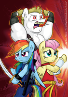 Final Pegasus Fight by JcosHooves