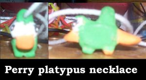 perryplatypus clay necklace by AshleyFluttershy