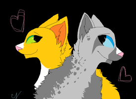 WARRIORS OTP ASHFUR X SQUIRRELFLIGHT by Uramaki