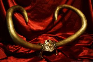Loki horns by PhantomessTerabithia