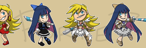 Stickers: Panty and Stocking by forte-girl7