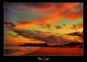 Porto Santo powerful sunset by globetrotter85