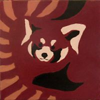 Acrylic Painting 2: Red Panda by KayFedewa