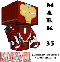 Iron Man Mark 35 Cubeecraft 3D-model by JagaMen
