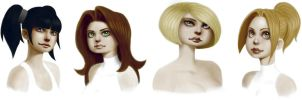 Spacegals_Portraits by thetetine