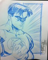 Green Lantern con sketchity by thejeremydale