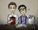 Cheerio!Kurt and Nerd!Blaine by ZiyalRising