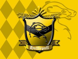 Hufflepuff House Crest by ajb3art