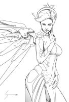 Mercy, Overwatch, BW Preview by EverHobbes