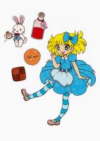 Alice In Wonderland Colored by Maiko-Girl