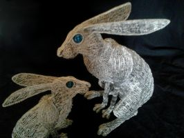 Hare pair 3 by braindeadmystuff